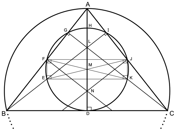 Nine-Point Circle and a Circum-Circle